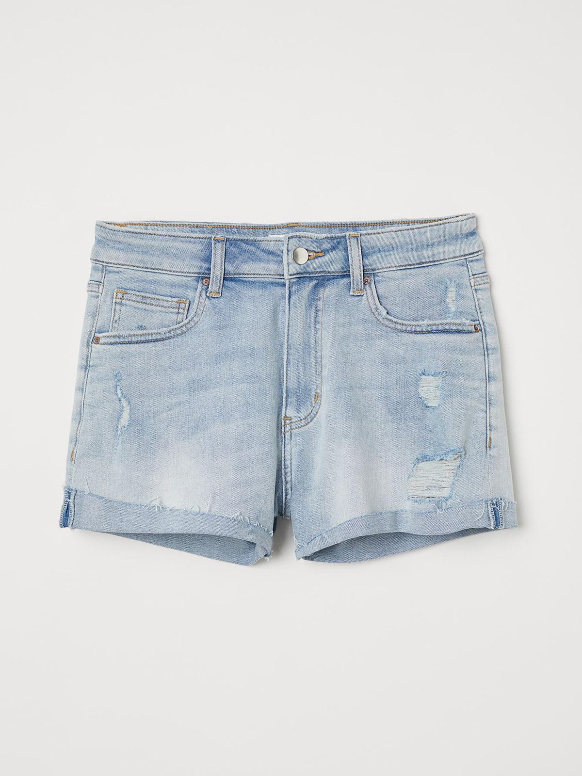 Шорты голубые джинсовые   5680608