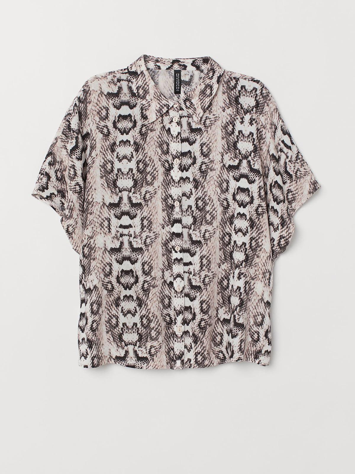 Блуза анималистической расцветки | 5680703