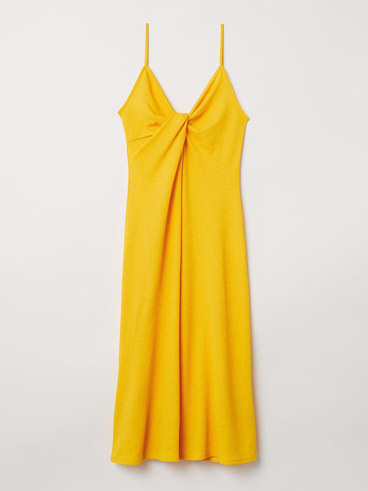 Платье желтое   5680741