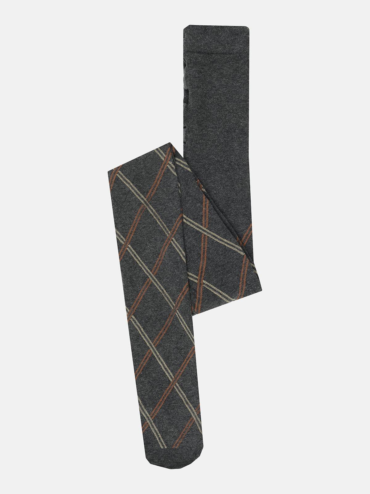 Колготки темно-серые в ромбы   5680758