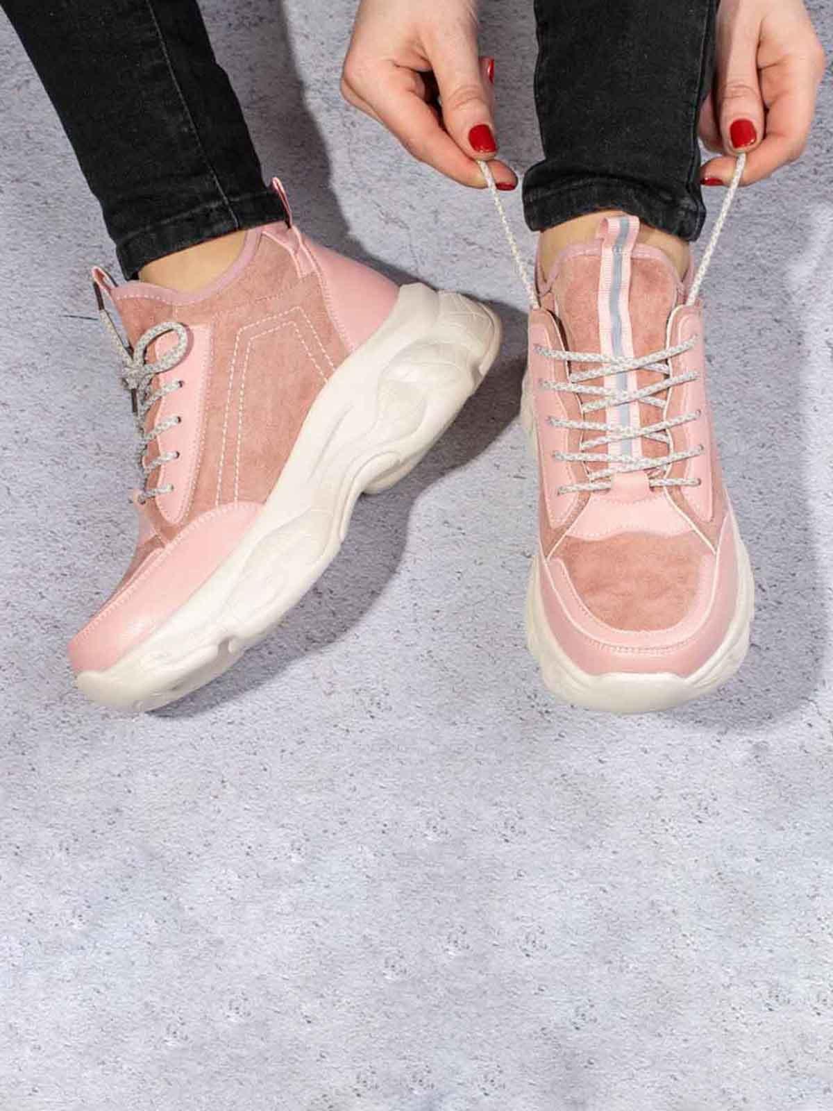 Кроссовки розового цвета   5642906