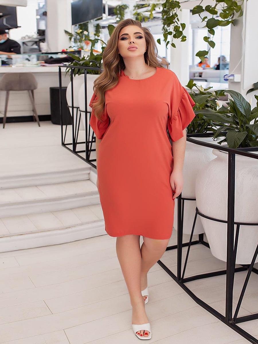 Платье кораллового цвета | 5691039