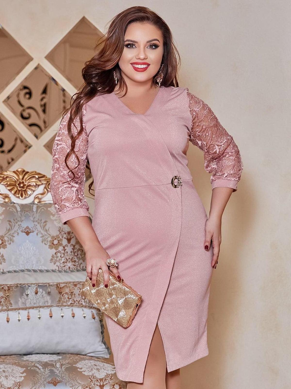 Сукня пудрового кольору   5691055