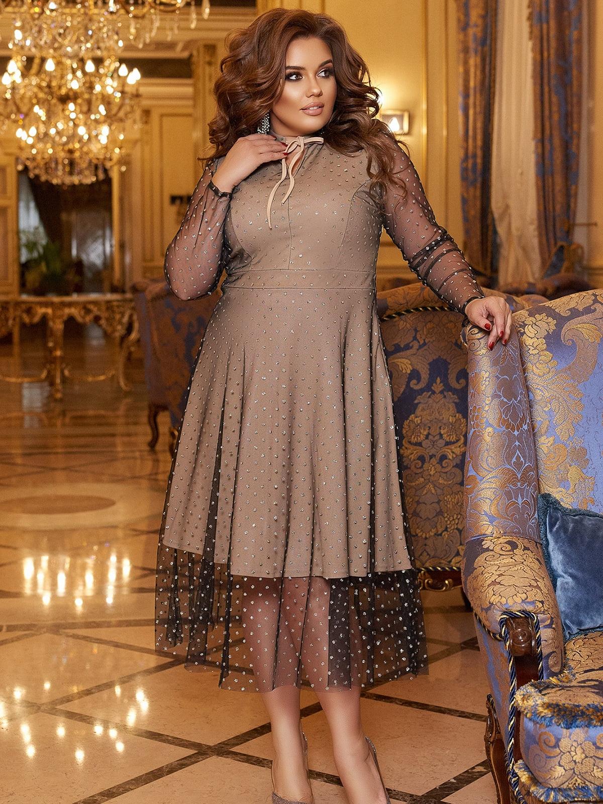 Платье бежевое | 5691088