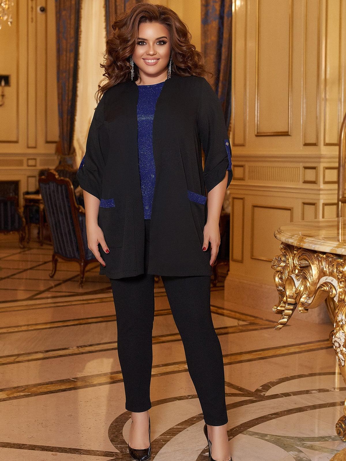 Костюм: блуза, кардиган і штани | 5691117
