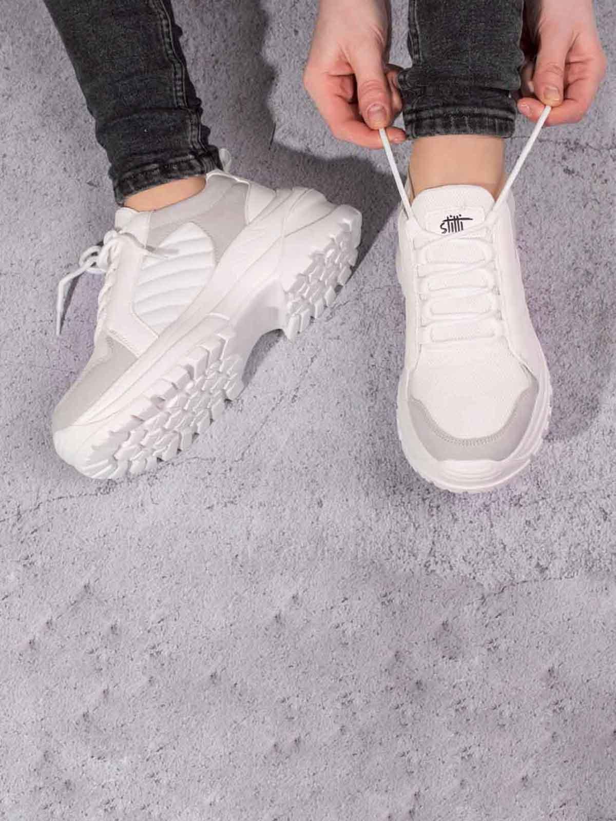 Кросівки біло-сірі | 5643109