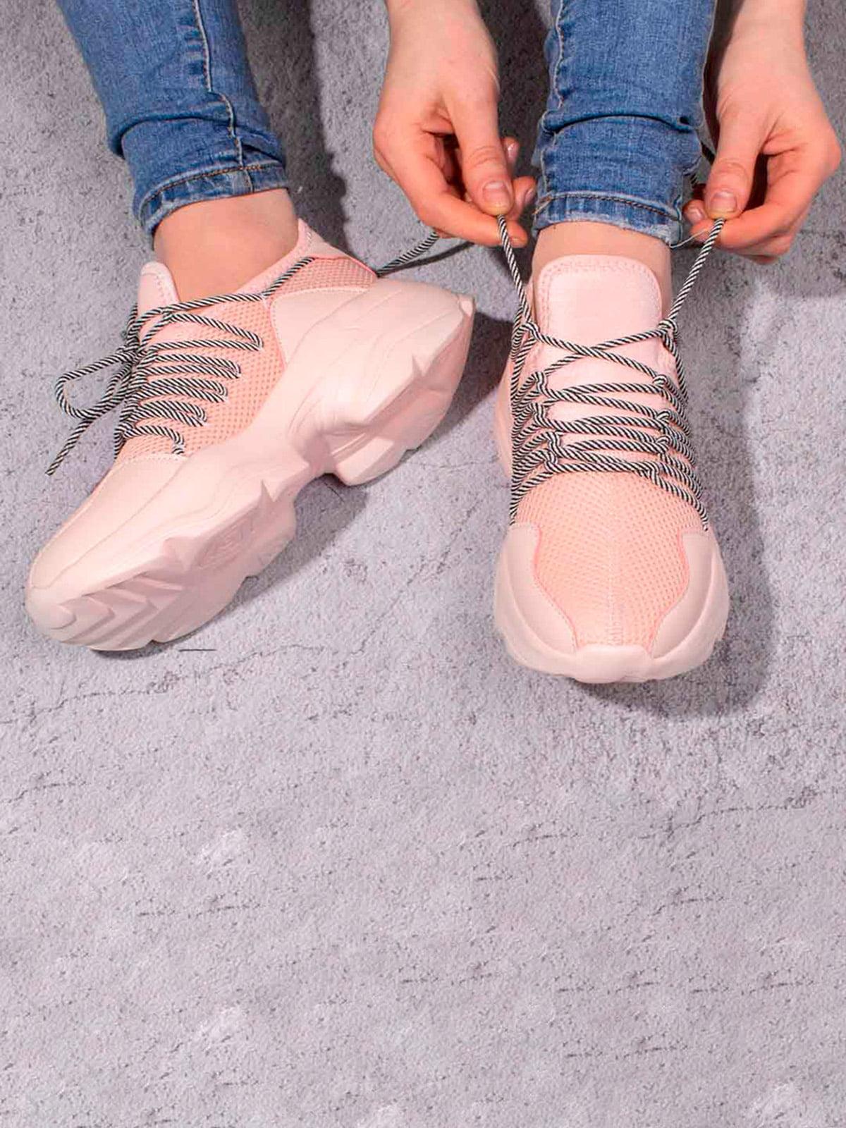 Кроссовки розовые | 5643205