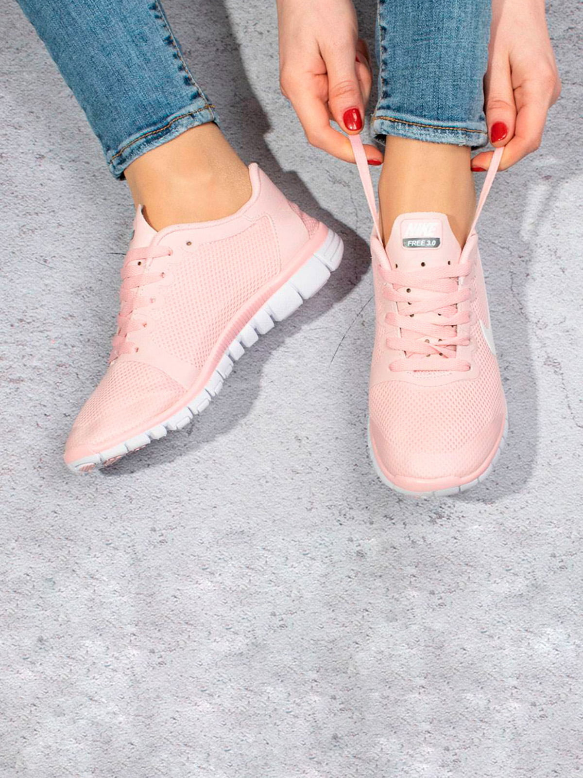 Кроссовки светло-розовые   5643284