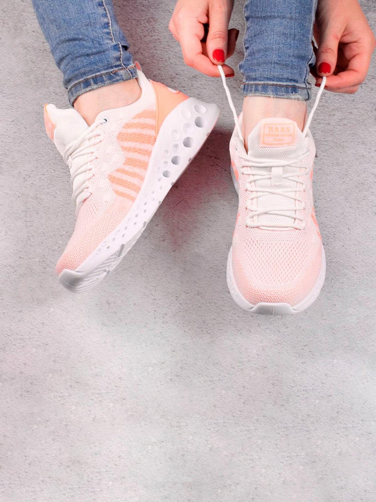 Кроссовки бело-розовые   5643546