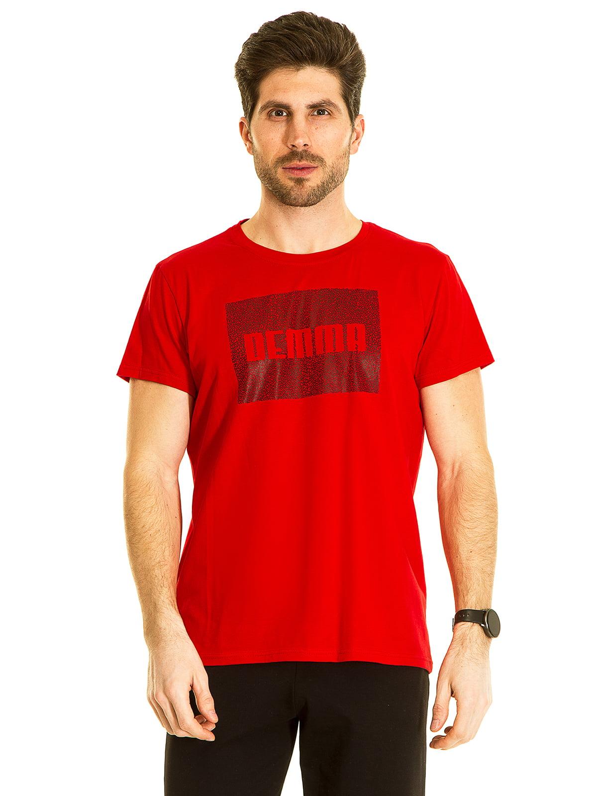 Футболка красная с принтом | 5695212