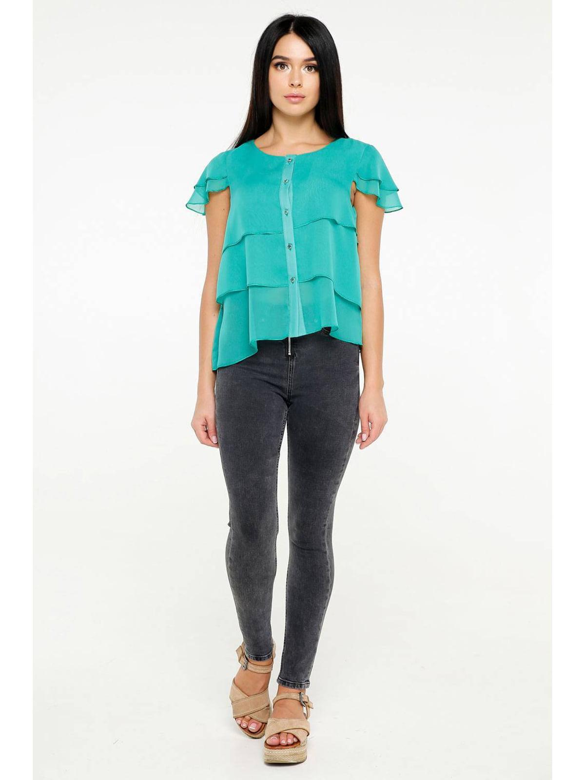 Блуза бирюзовая | 5699675