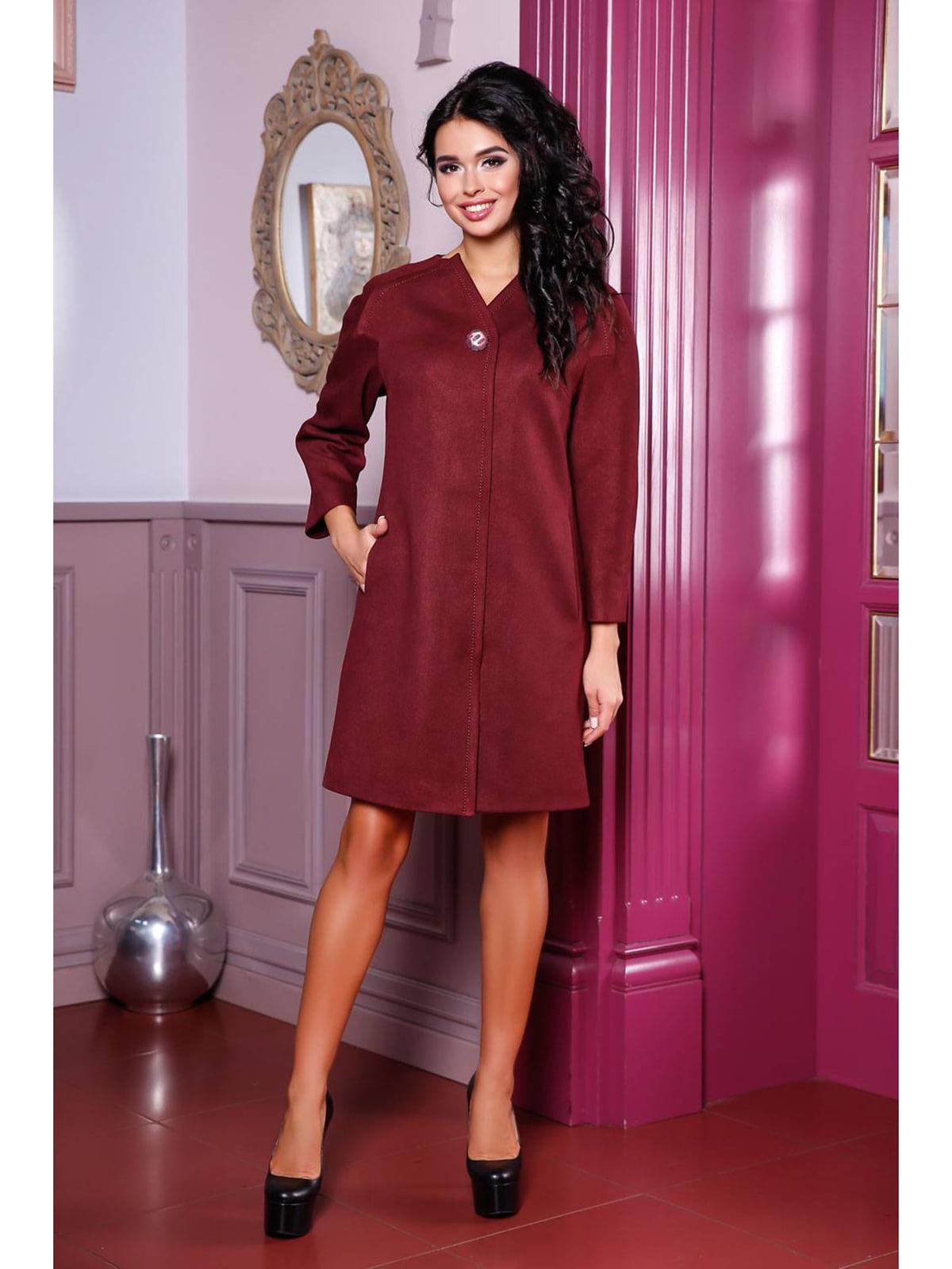 Пальто кирпичного цвета   5699735