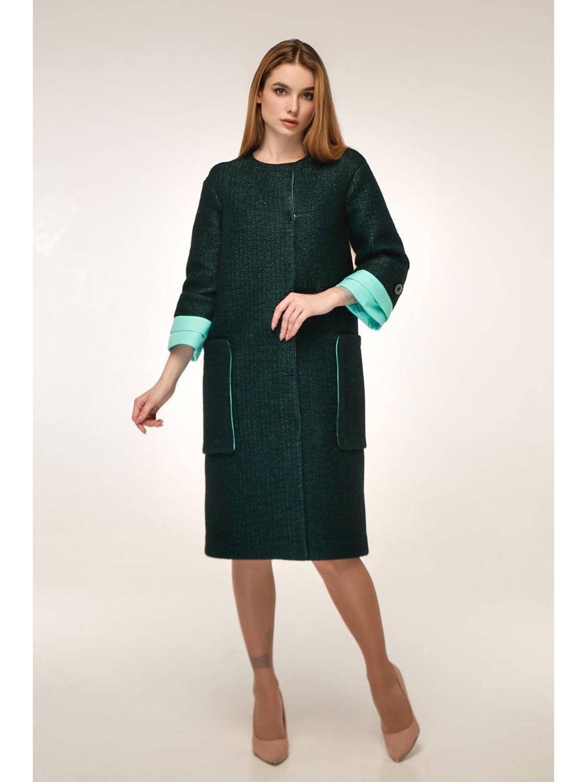 Пальто темно-зеленое | 5699791