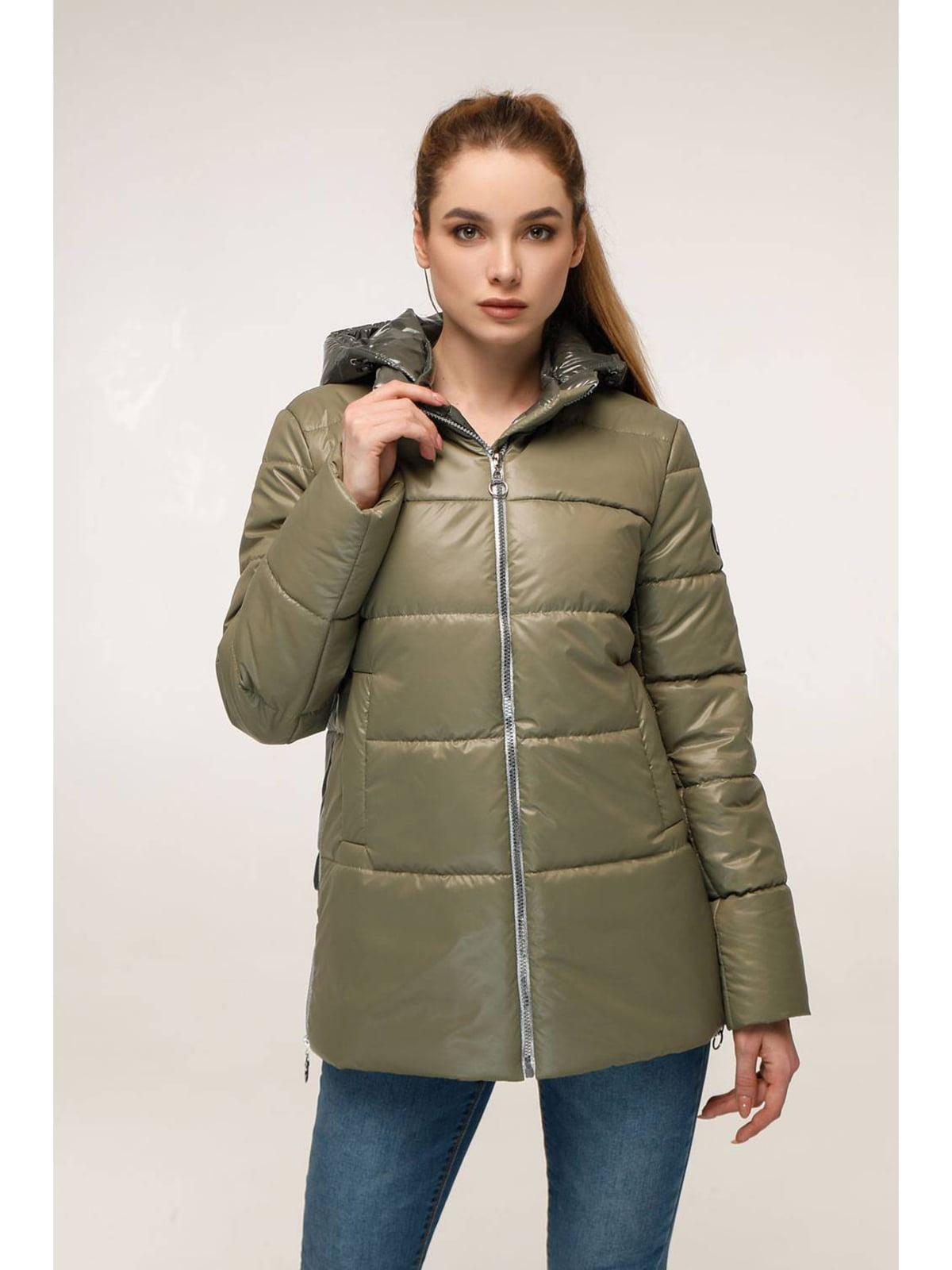 Куртка оливкового цвета   5699921