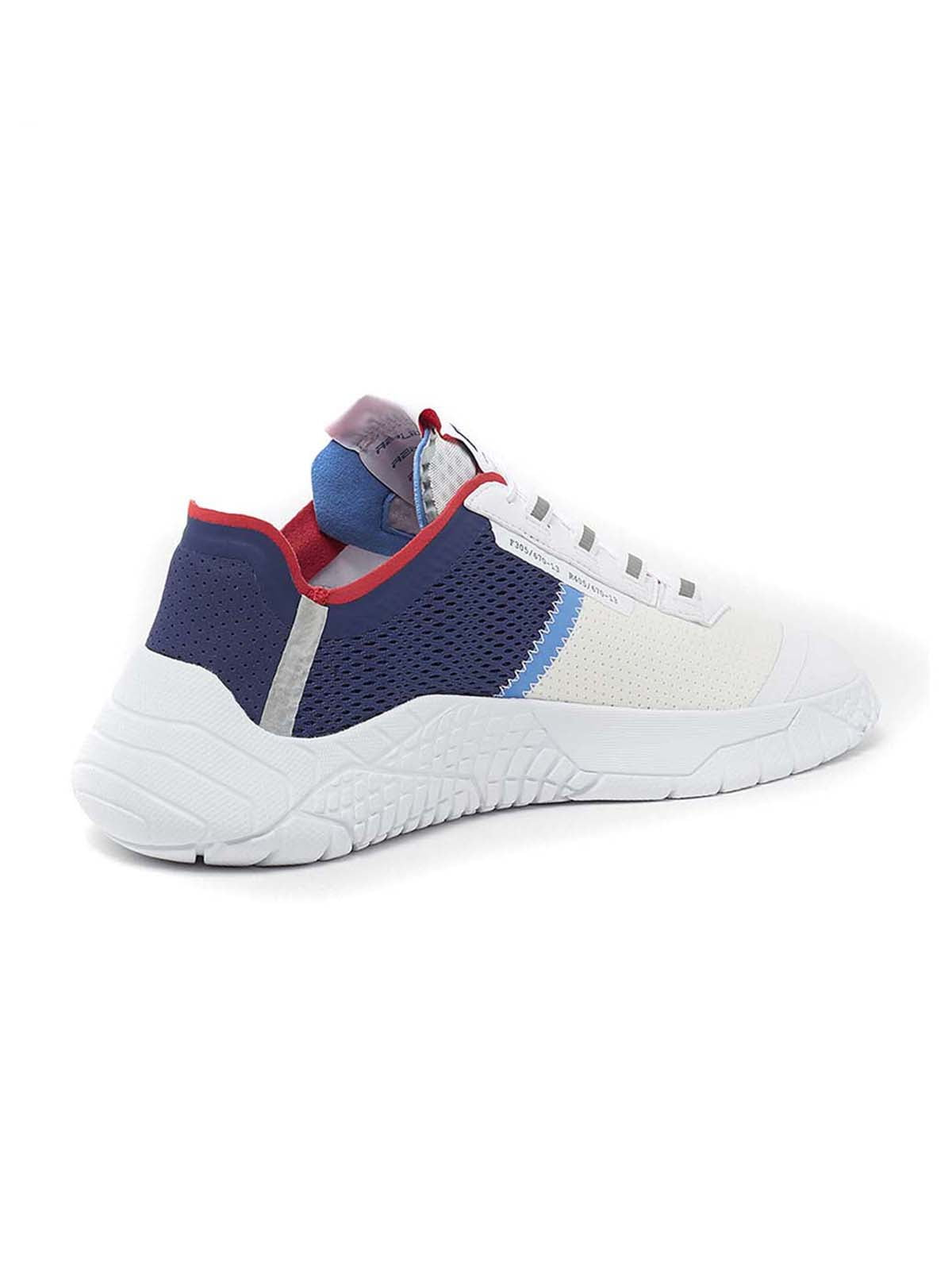 Кроссовки бело-синие   5695819
