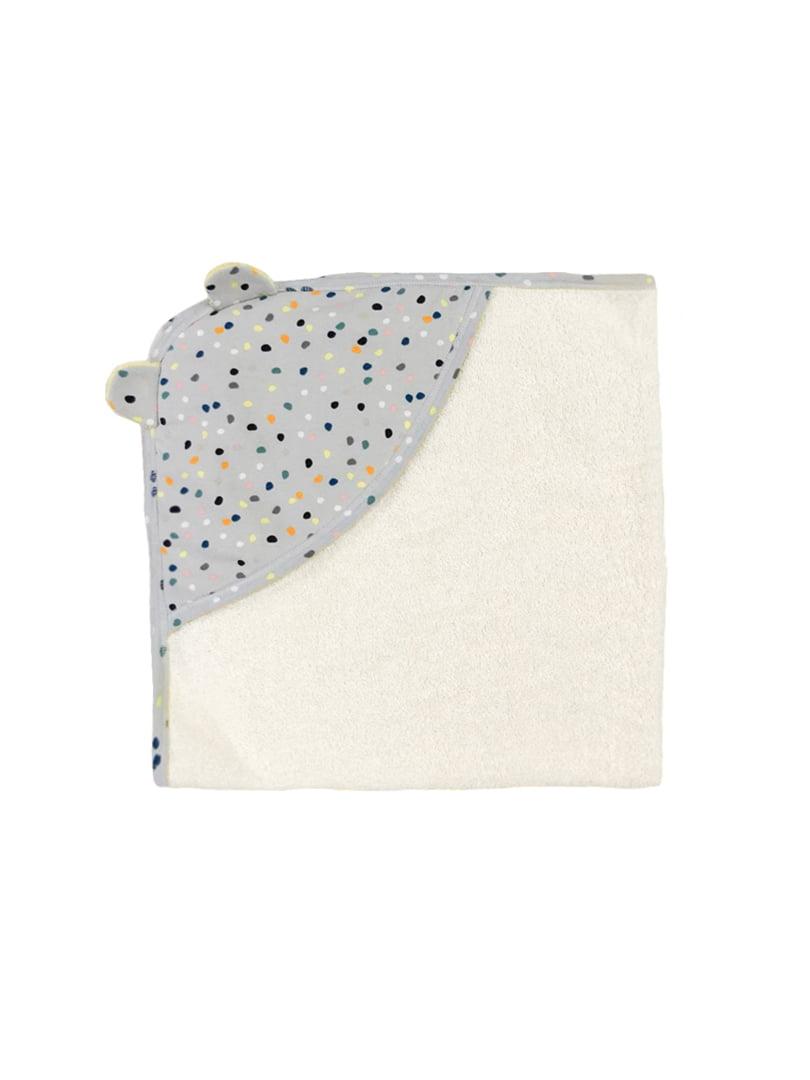 Полотенце серо-молочного цвета с принтом | 5701914