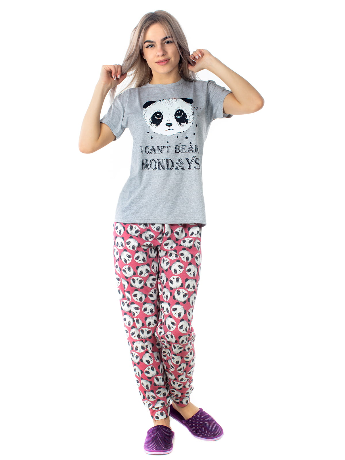 Пижама: футболка и брюки | 5704254