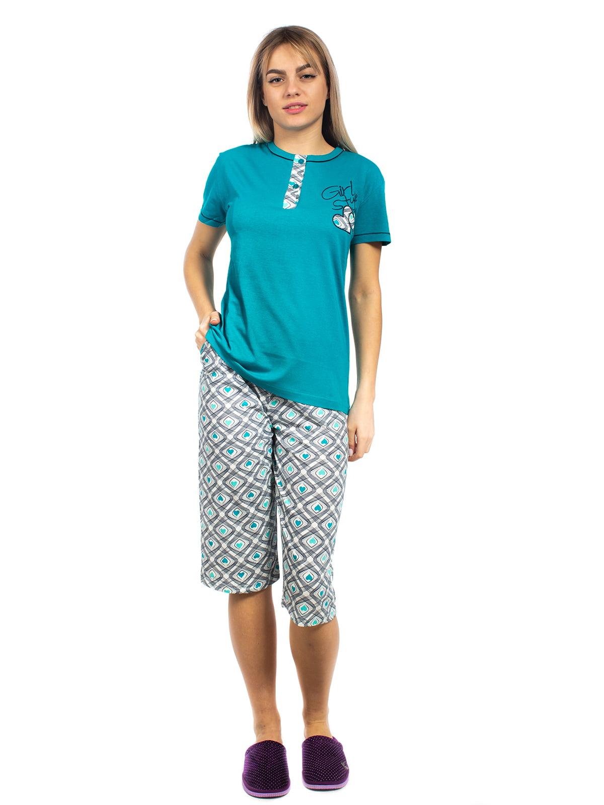Піжама: футболка-поло та бриджі | 5704264