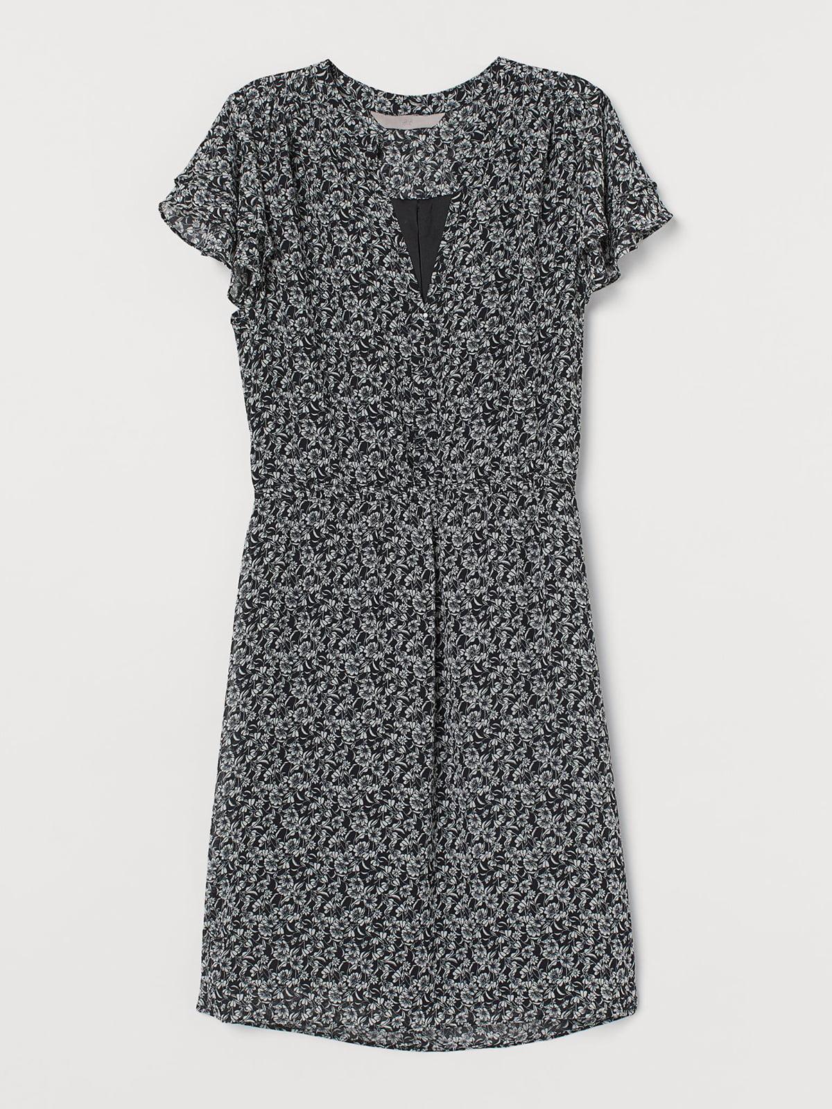 Сукня чорна в принт | 5704674