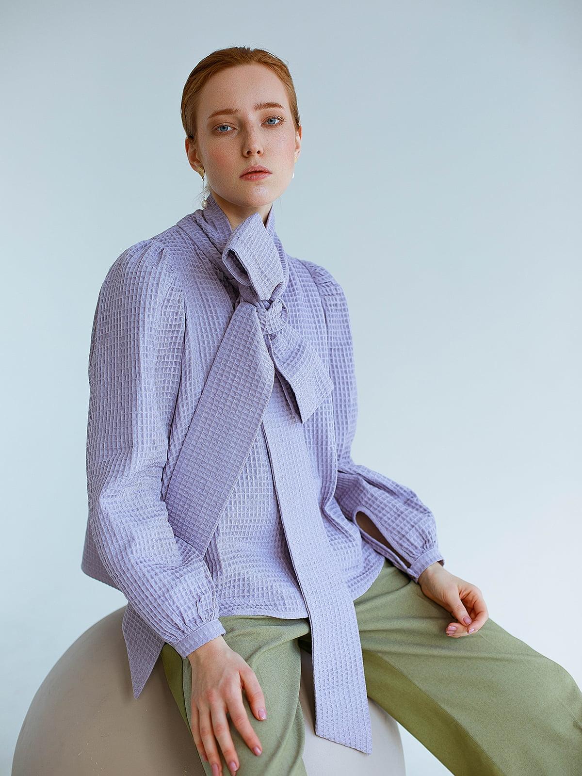 Блуза сиреневого цвета | 5705734