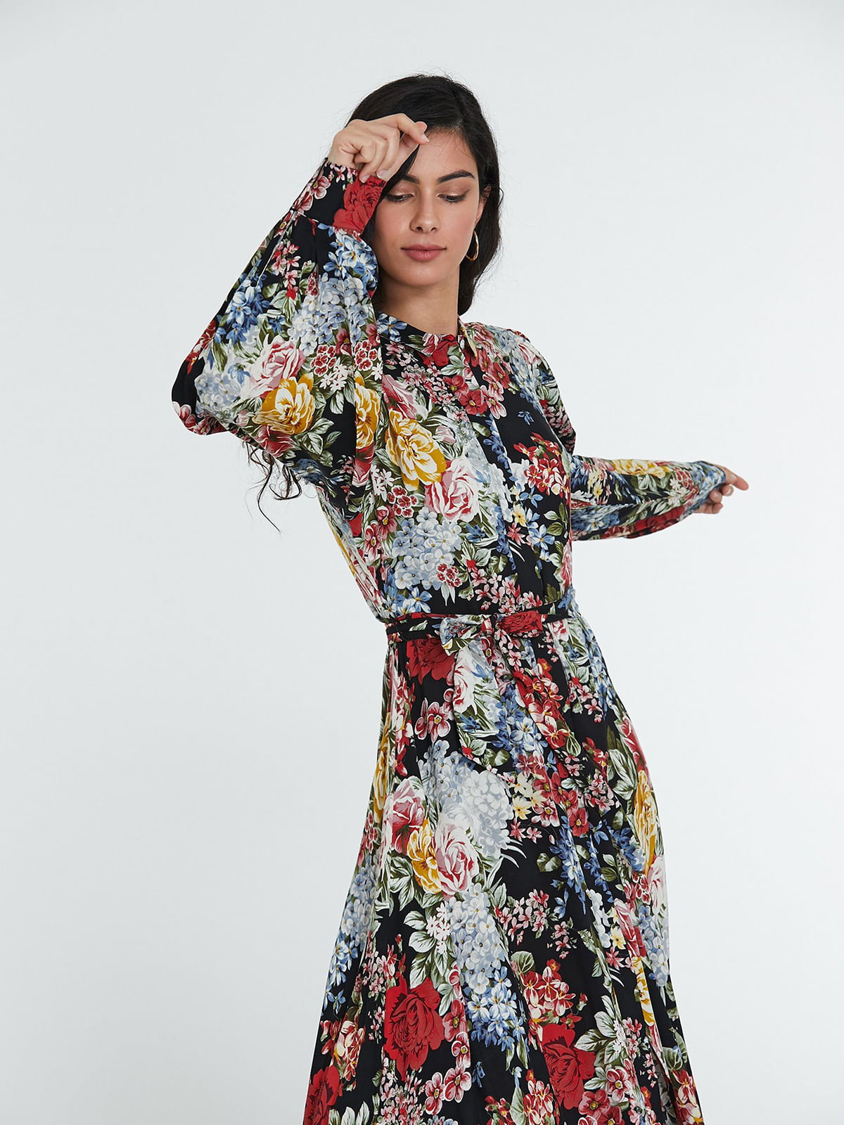 Платье разноцветное в принт | 5686777