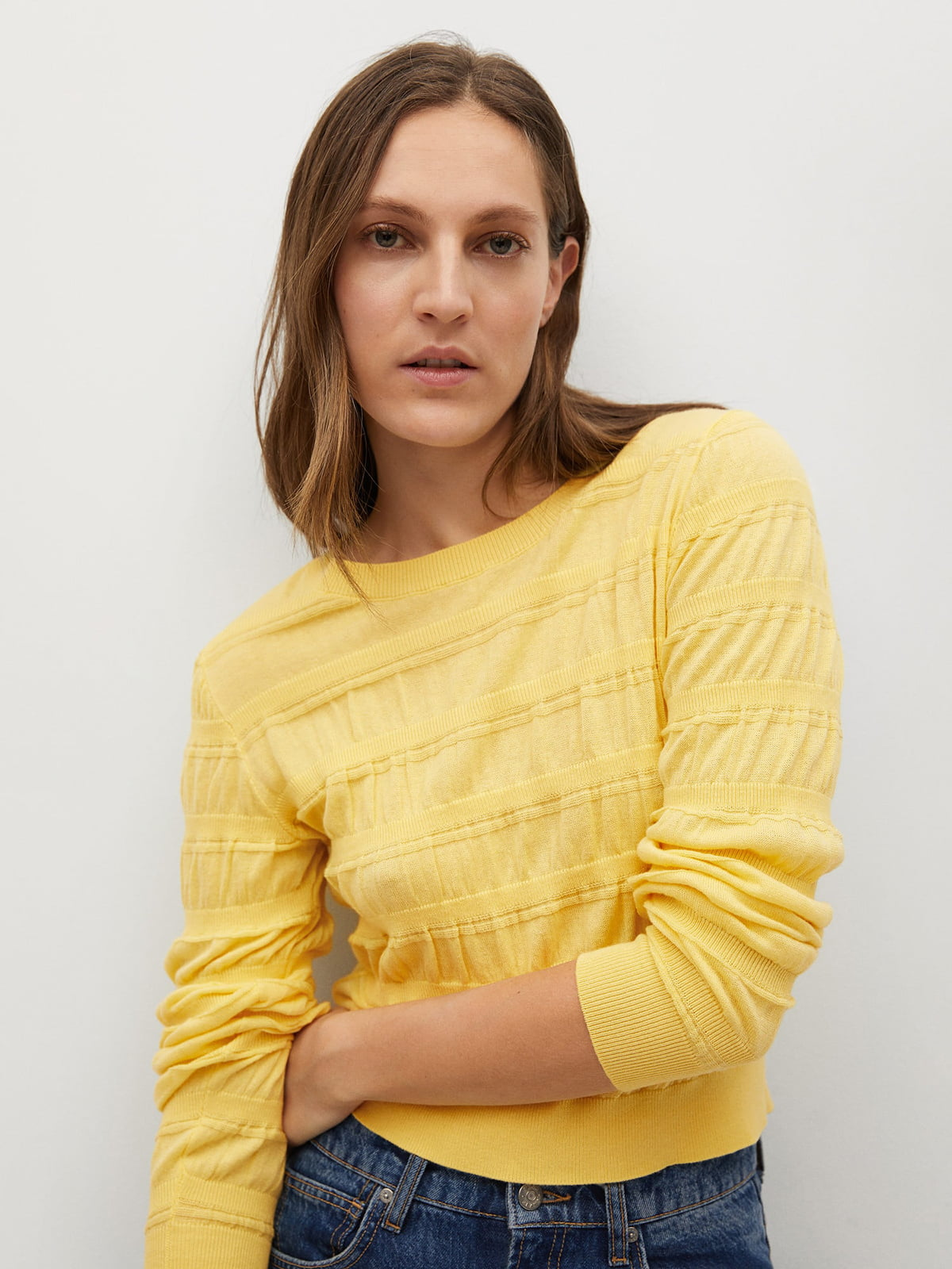 Джемпер желтый с узором   5707931