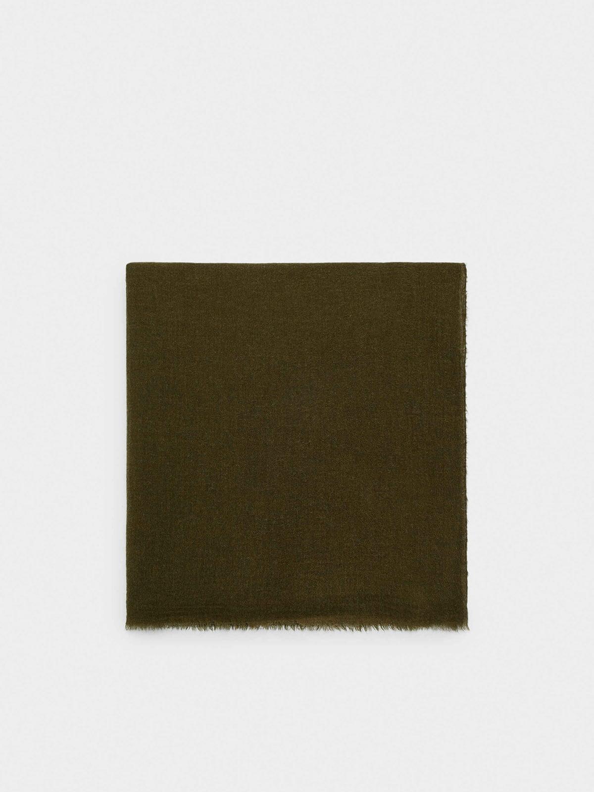 Шарф цвета хаки | 5710527