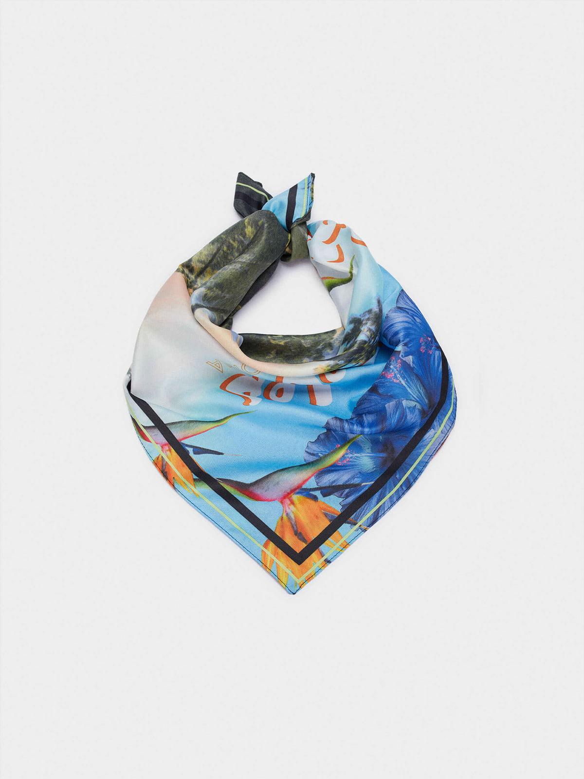 Платок разноцветный в принт | 5710588