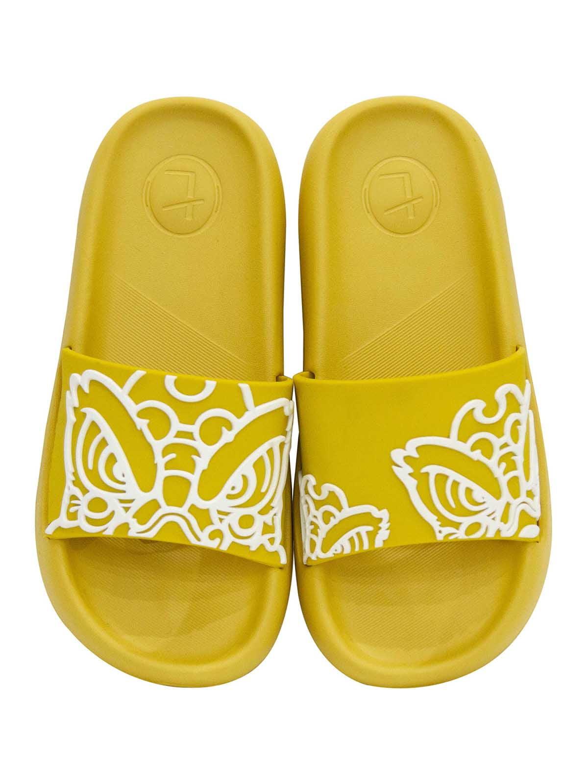 Шлепанцы желтые с рисунком   5710081