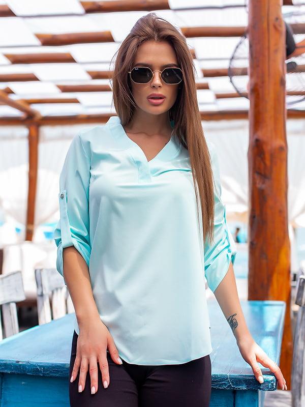 Блуза голубая | 3315393