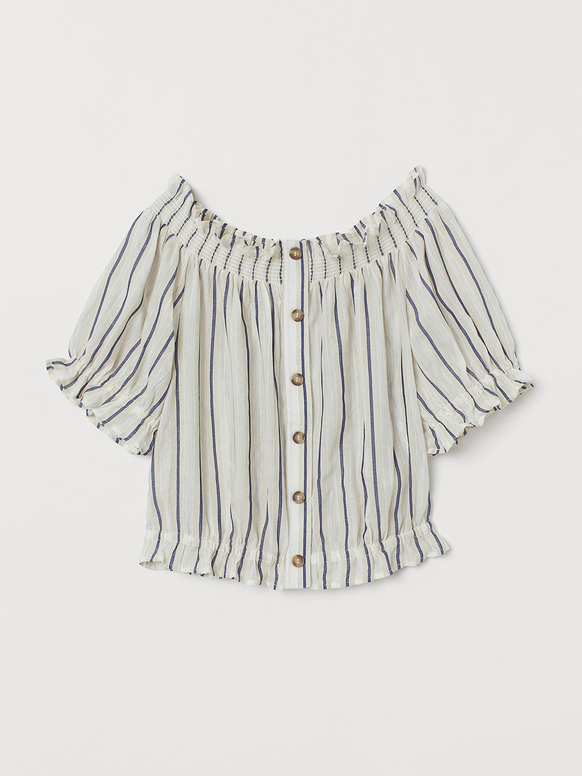 Блуза бежевого цвета в полоску | 5501924