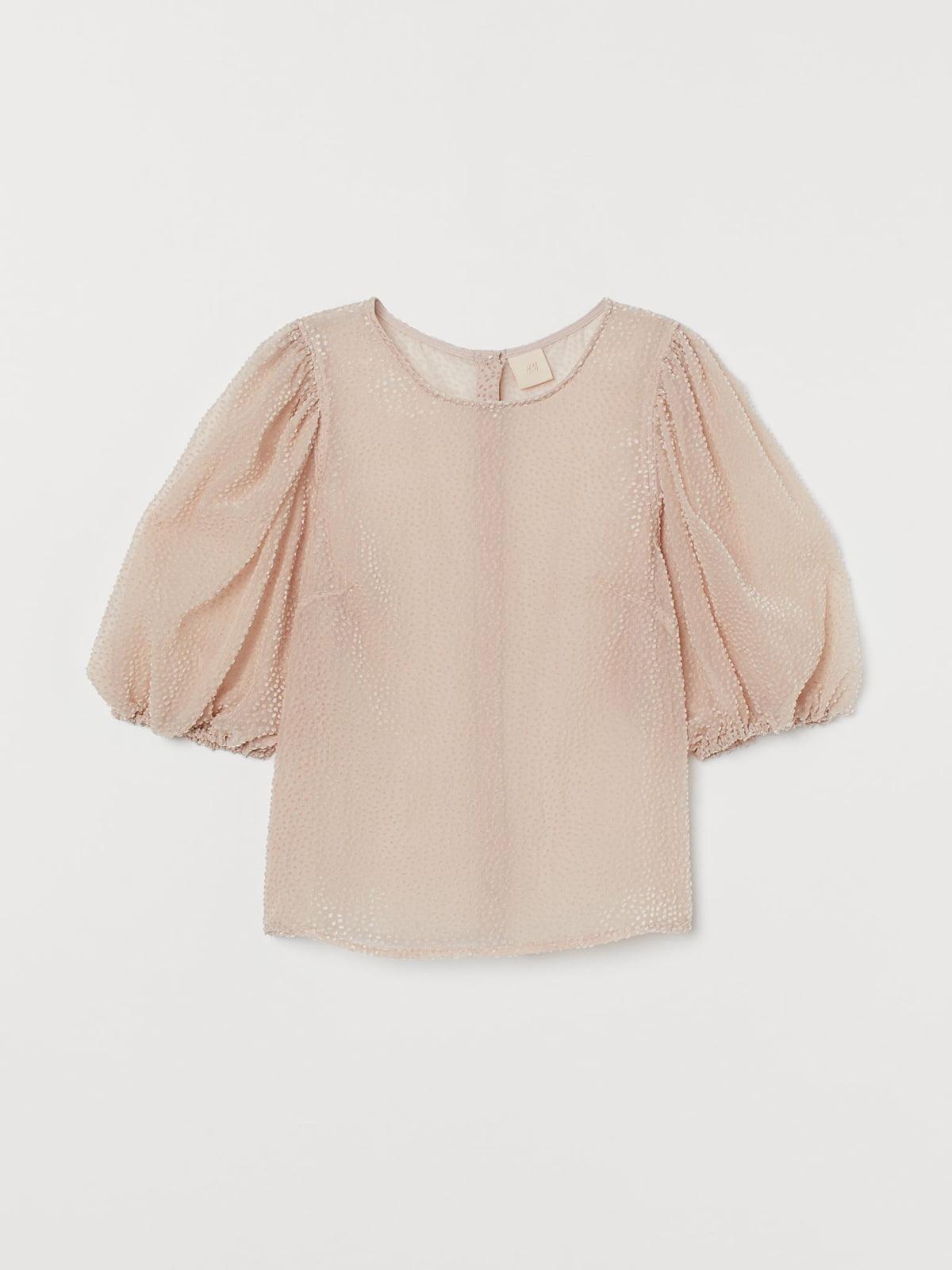Блуза цвета пудры с декором | 5702536