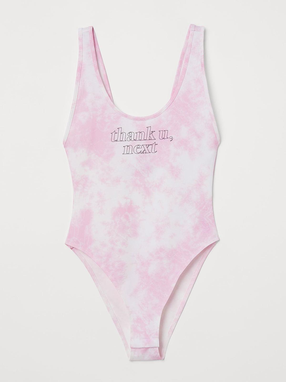 Купальник розового цвета с принтом | 5702668
