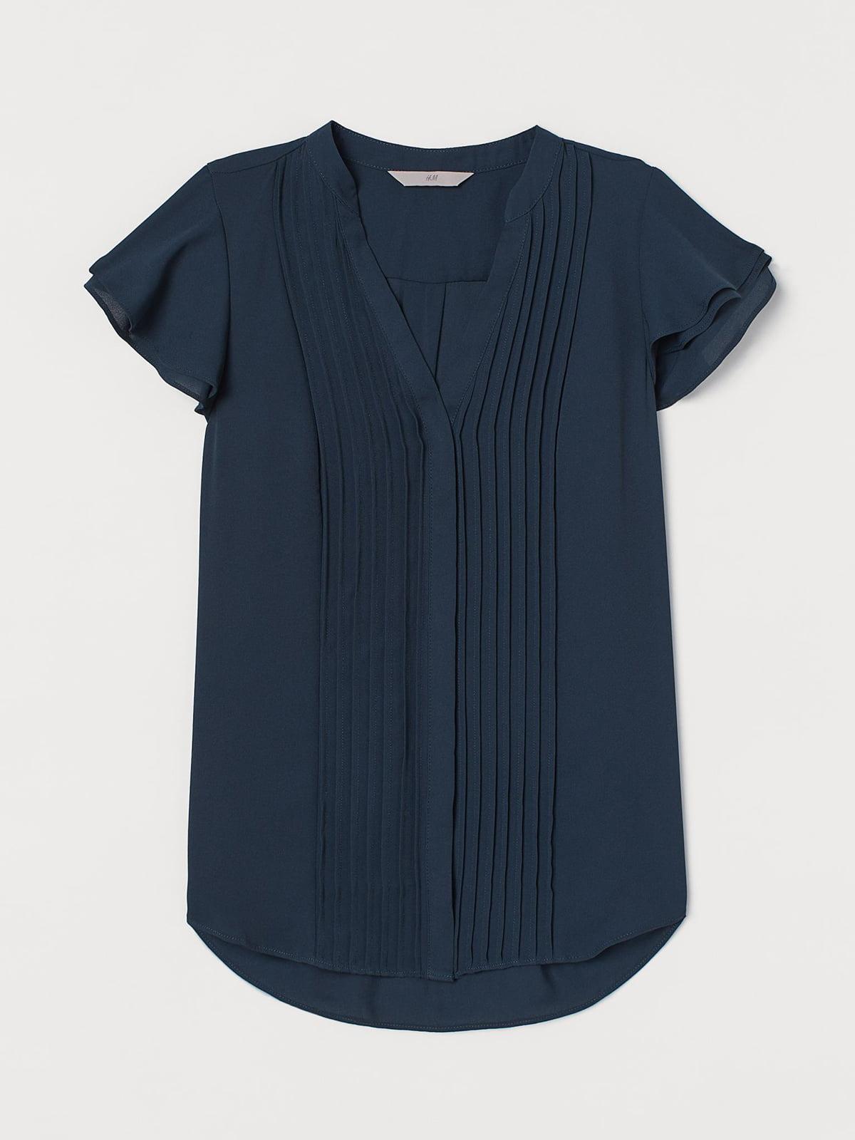 Блуза темно-бирюзового цвета   5702687