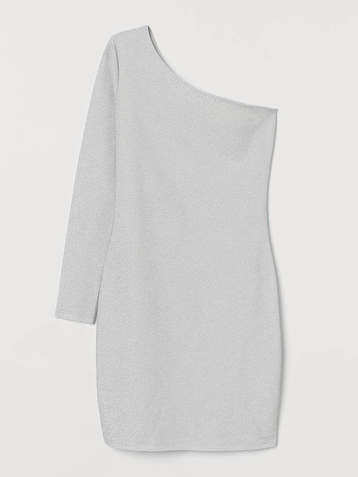 Платье белое с блестками | 5702765