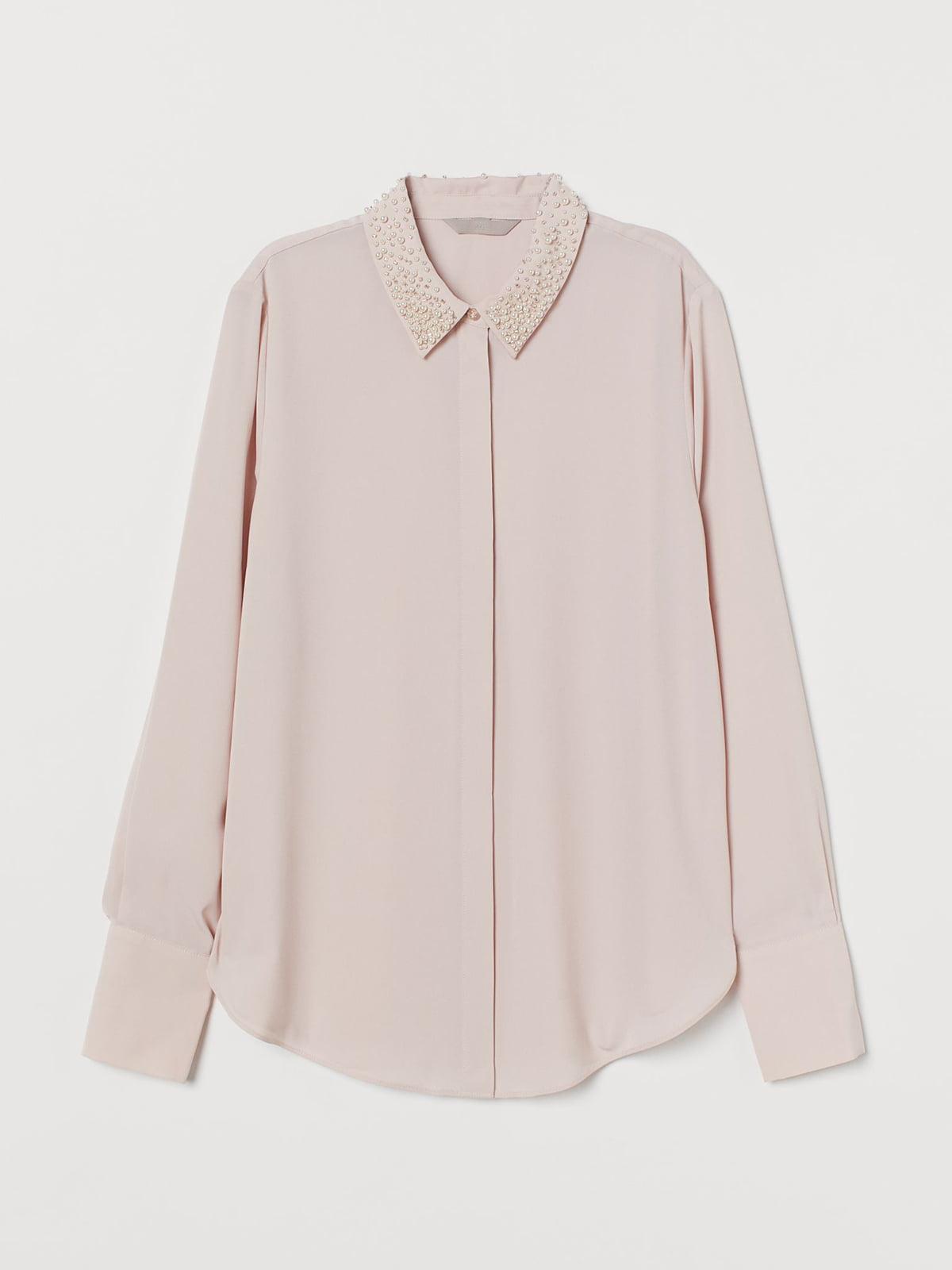 Рубашка цвета пудры | 5702782
