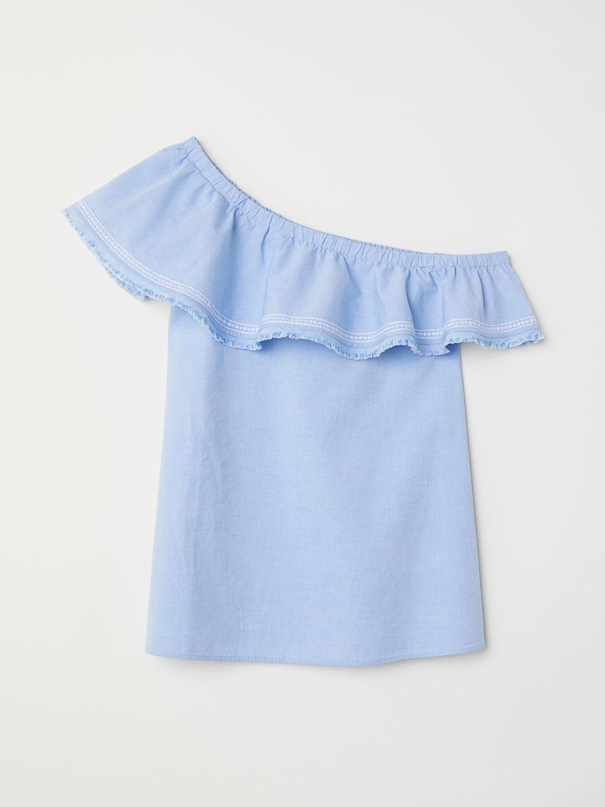 Блуза-топ голубого цвета   5702808
