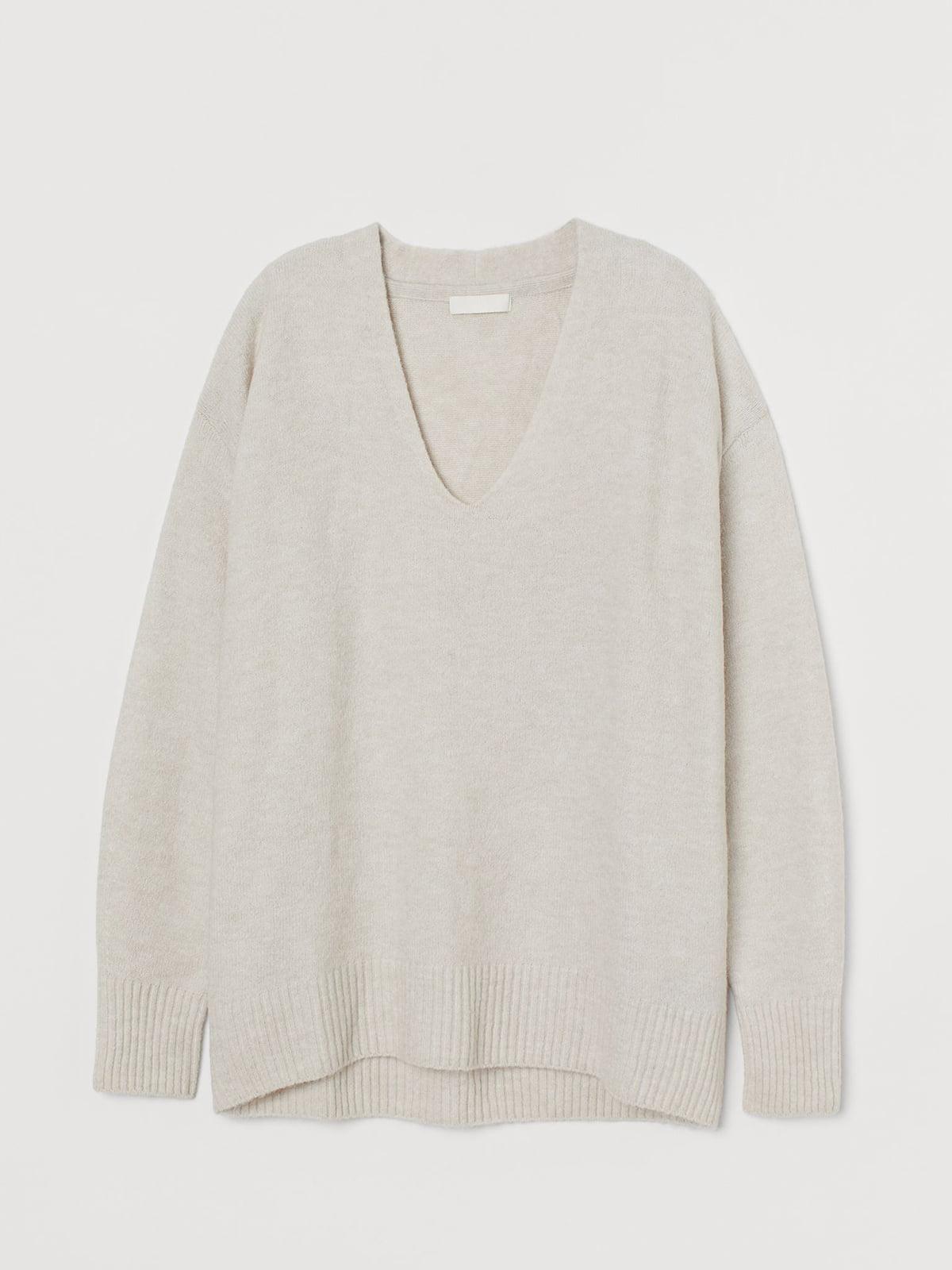 Пуловер бежевого цвета   5702845