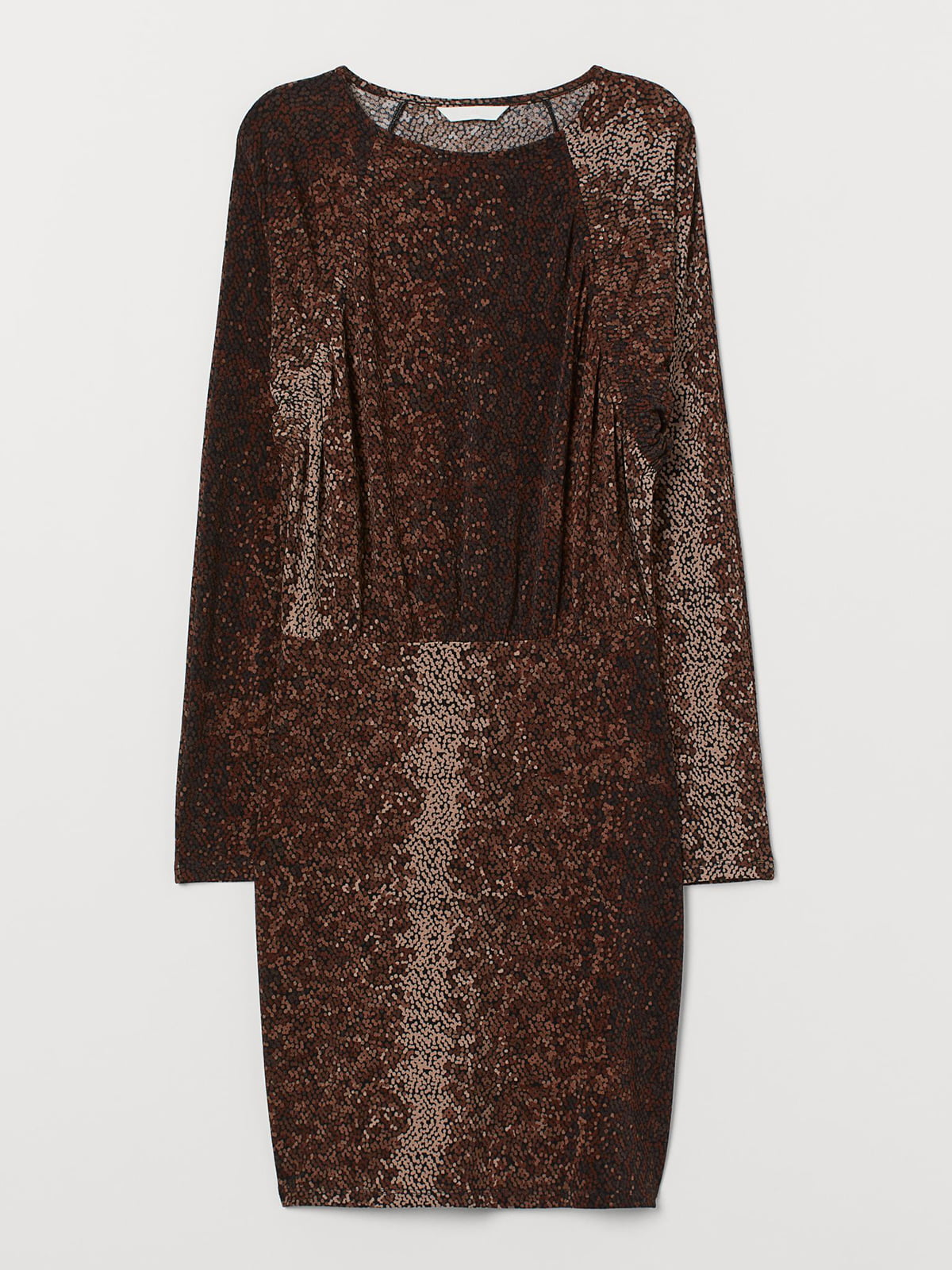 Платье коричневого цвета с декором | 5707286