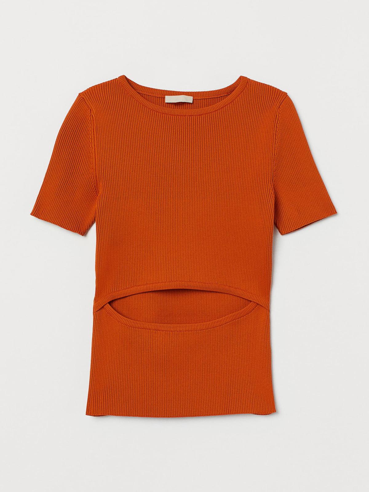 Джемпер-топ морковного цвета | 5710171