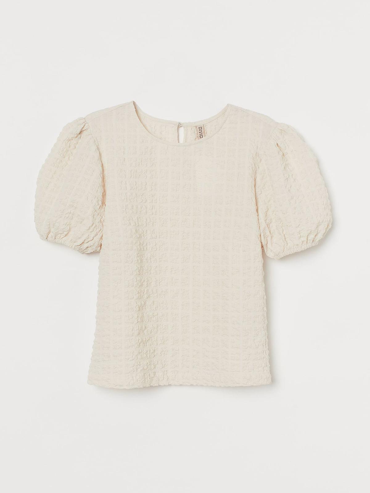 Блуза бежевого цвета с узором | 5716845