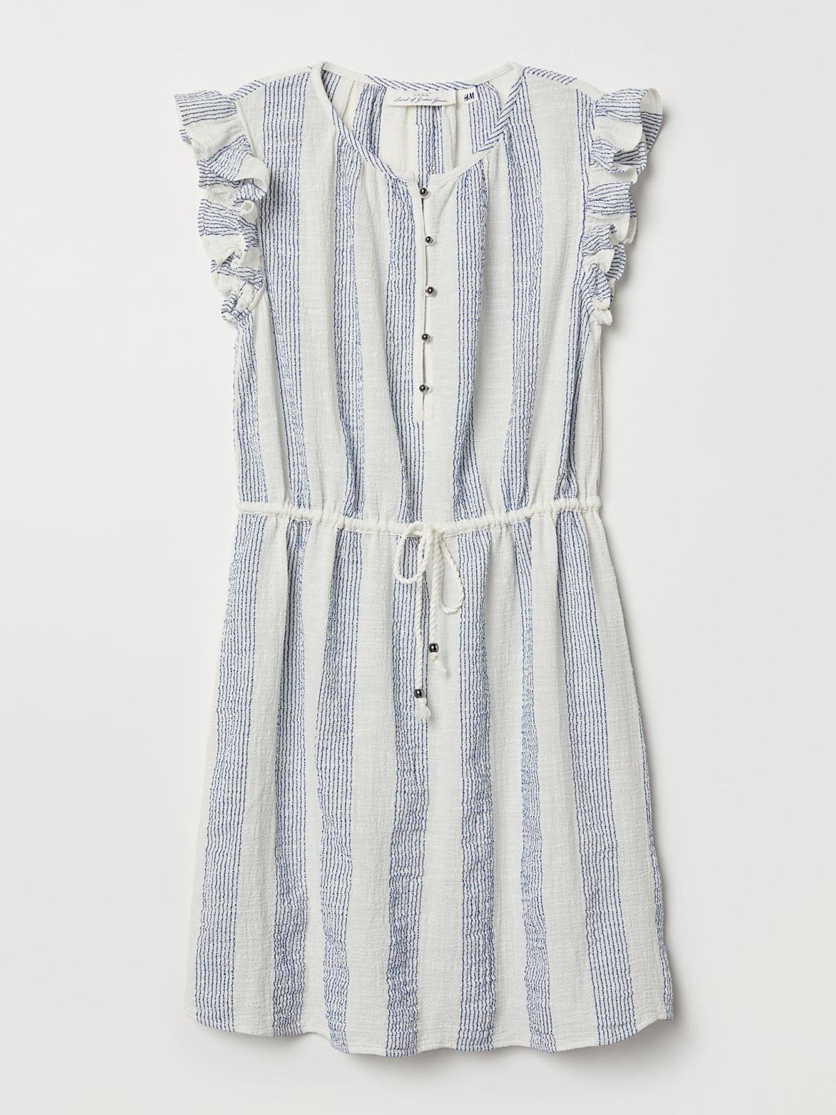 Платье белое в полоску | 5716950