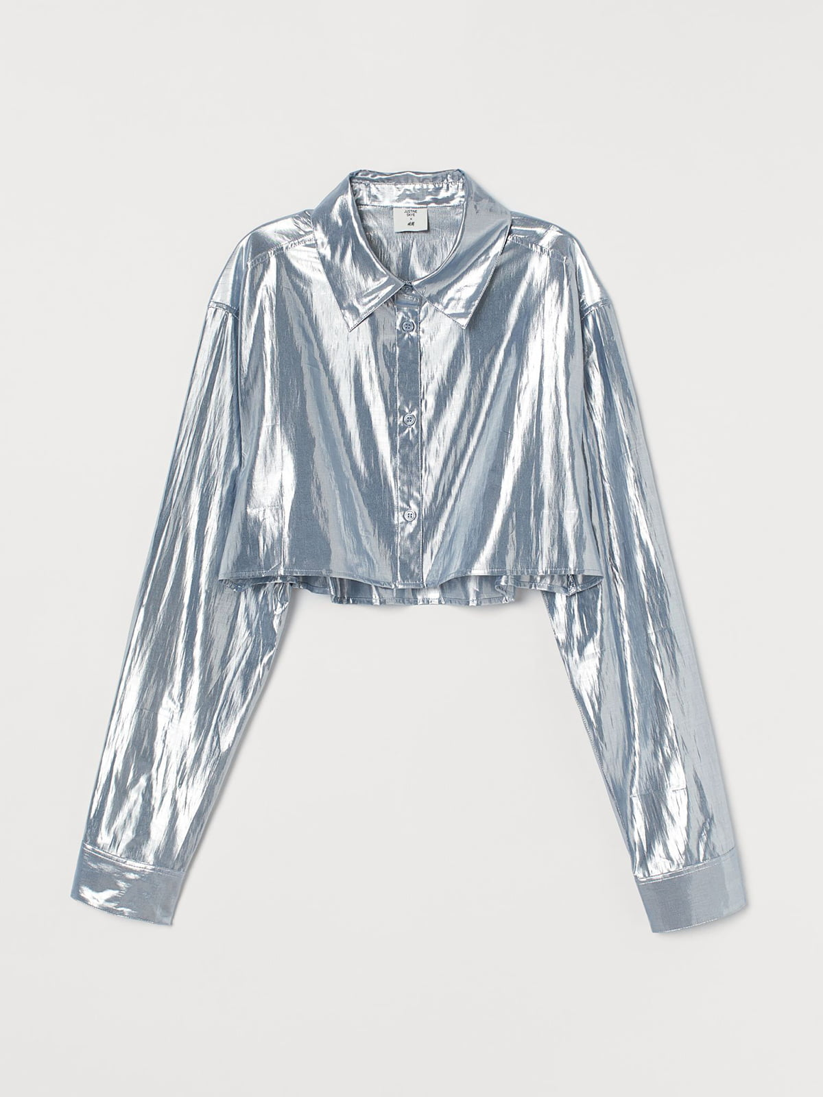 Рубашка серебристого цвета | 5717825