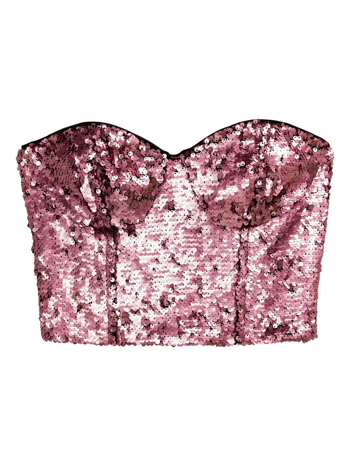Топ розового цвета с декором | 5717882