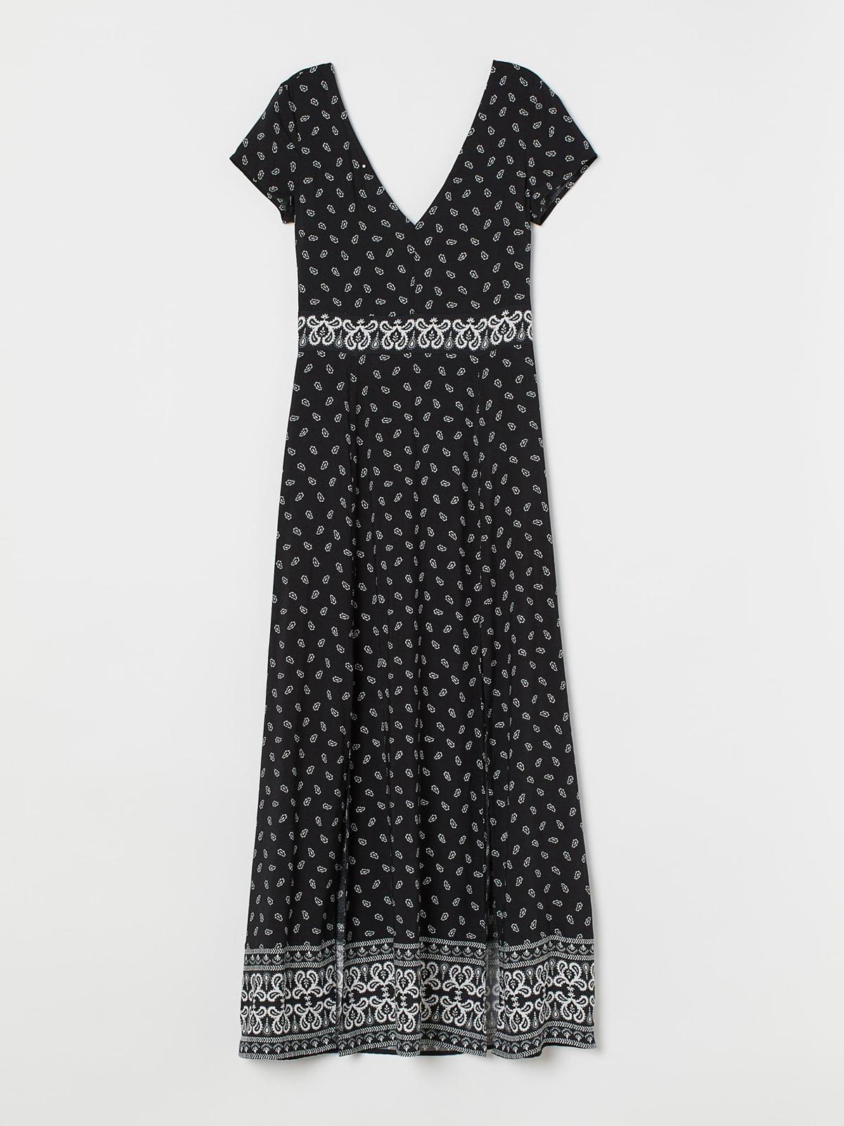 Платье черное с принтом   5717935