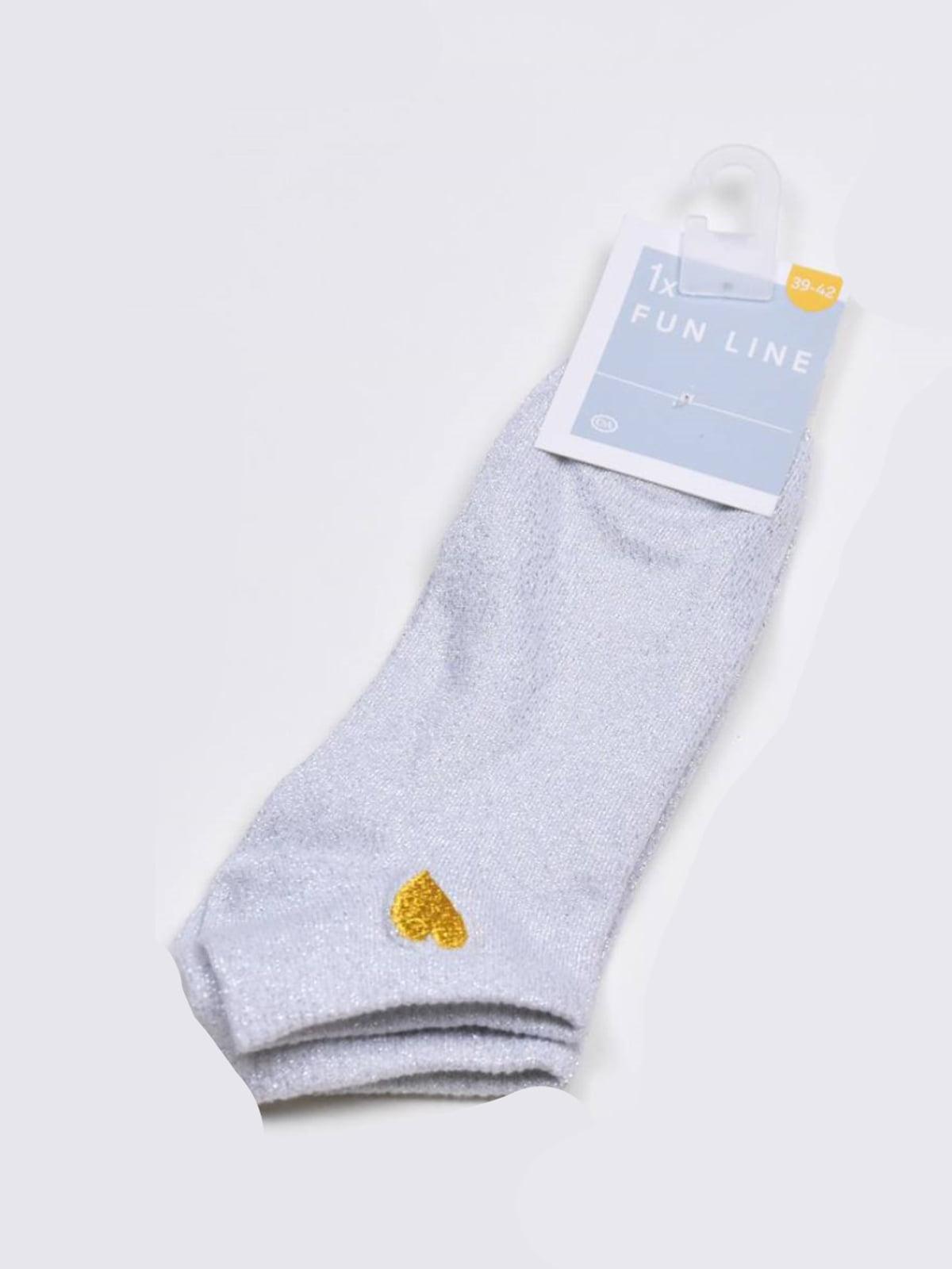 Носки сиреневого цвета с рисунком   5717976