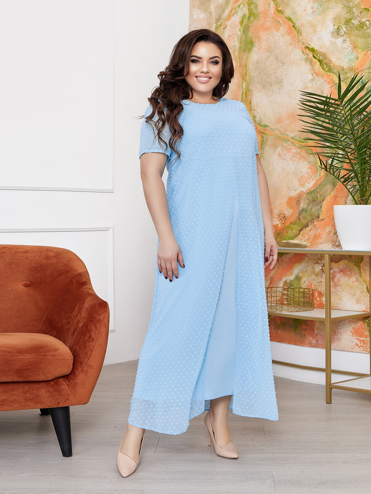 Сукня блакитного кольору   5718891