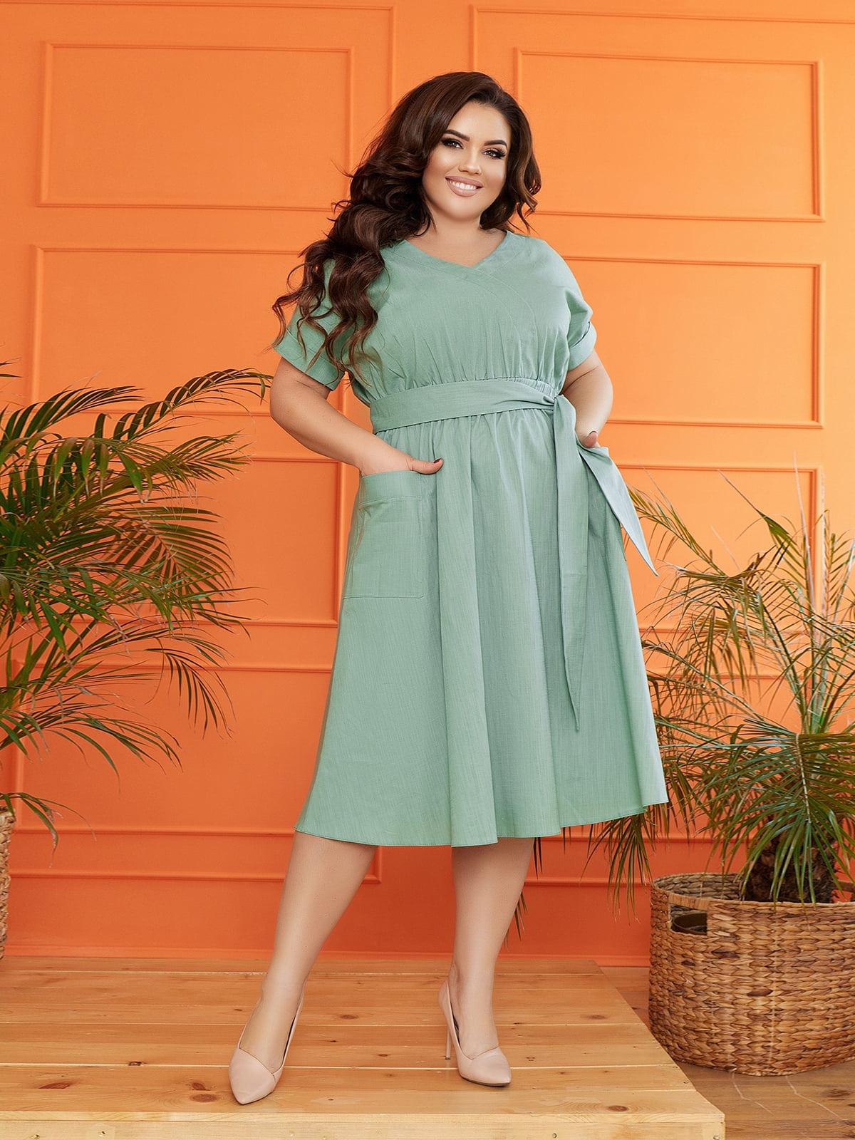 Платье мятного цвета   5718908