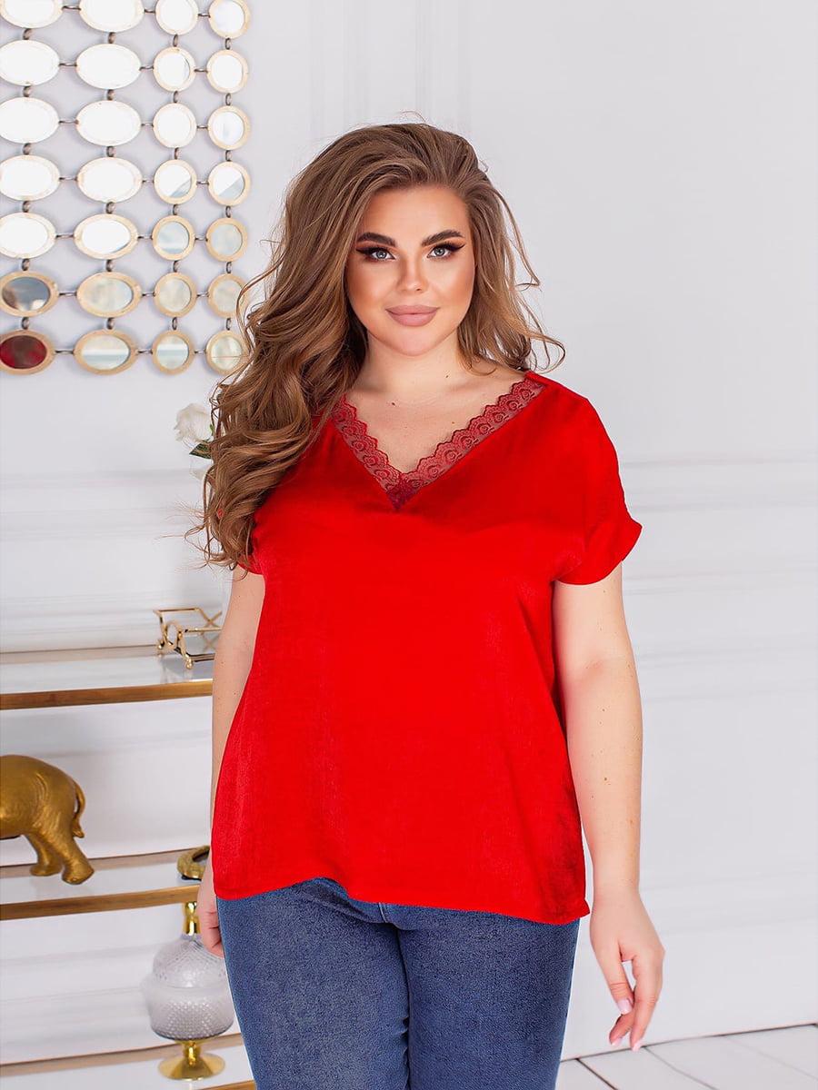 Блуза червона | 5718939