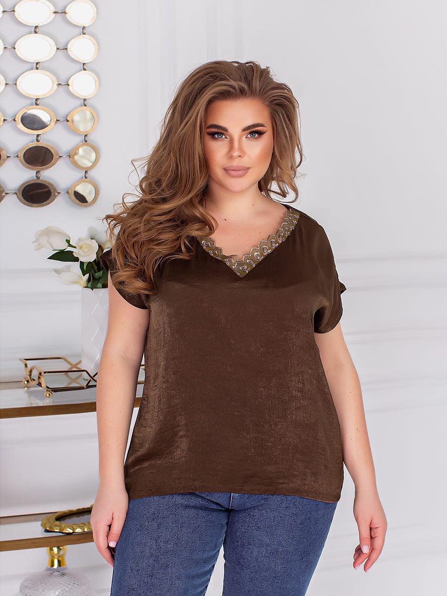 Блуза кольору хакі | 5718940
